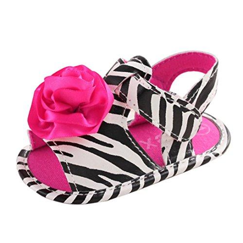Saingace Kleinkind Mädchen Krippe Schuhe Neugeborene Blume Soft Sohle Anti-Rutsch Baby Sneakers Sandalen