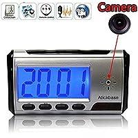 Atickbase New & Stealth Trail Digital Clock Spy Hidden Camera DVR USB Motion Alarm Video Audio Recorder Remote
