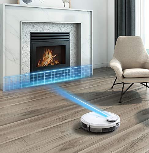 ECOVACS O900 Robotics DEEBOT OZMO 900 - Aspira y Friega simultáneamente - Control y programación Mediante App - Tecnología de mapeo - Color Blanco, ...