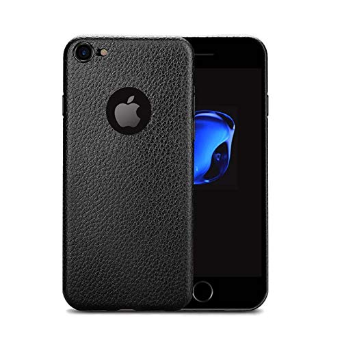 enflamo® original frosted soft silicone slim back cover case for apple iphone 7  texture black    Black