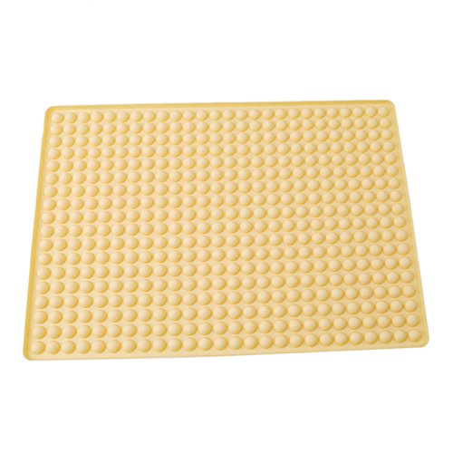 LALANG Microwave oven silicone Pyramid baking mat and roast meat mat (Yellow)