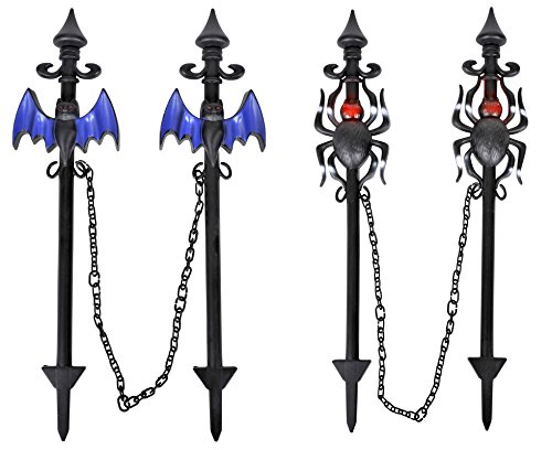 Halloween House Yard Stakes in Assorted Colors and Styles - 2 Pack (Halloween Yard Stake Lights)