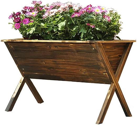 Maceta / Jardinera - Maceteros De Madera - Caja De Contenedores De Madera De Plantas Grandes - Marco De Flores