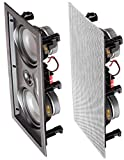 OSD Audio IW525 Dual 5.25'' In-Wall Center Channel LCR Speaker with Dual Woofers and Silk Dome Tweeter, 150W (Single)
