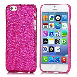 JOE Glitter Powder Leather Coated Hard Back Cover for iPhone 6(Assorted Colors) , Blue