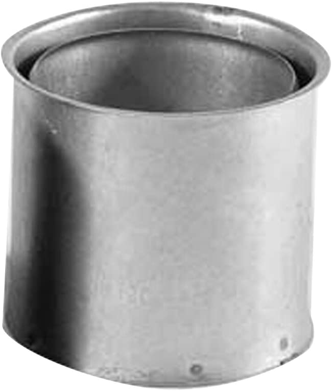 Kamino - Flam – Tubo doble pared forro, Doble pared forro para estufa de leña, chimeneas y hornos de leña – acero resistente a altas temperaturas – Plata, Ø 120 mm