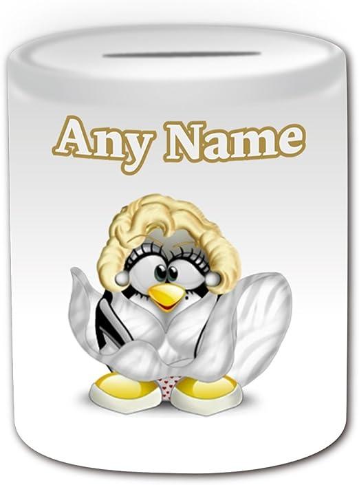 Regalo personalizado – Marilyn Monroe caja de dinero (pingüino ...