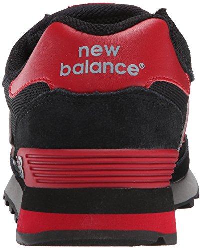 Nye Balance Mænds Ml515 Pique Polo Pakke Klassiske Sneaker Sort / Rød Ua3cJy1