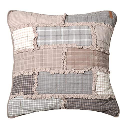 Throw Pillow - Smoky Cobblestone by Donna Sharp - Contemporary Decorative Throw Pillow with Patchwork Pattern - Square