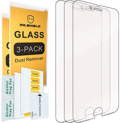 [3-PACK]-Mr Shield For iPhone 6 Plus / iPhone 6S Plus [Tempered Glass] Screen Protector with Lifetime Replacement Warranty from Mr Shield