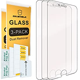 [3-Pack]-Mr Shield for iPhone 6 Plus/iPhone 6S Plus [Tempered Glass] Screen Protector with Lifetime Replacement Warranty