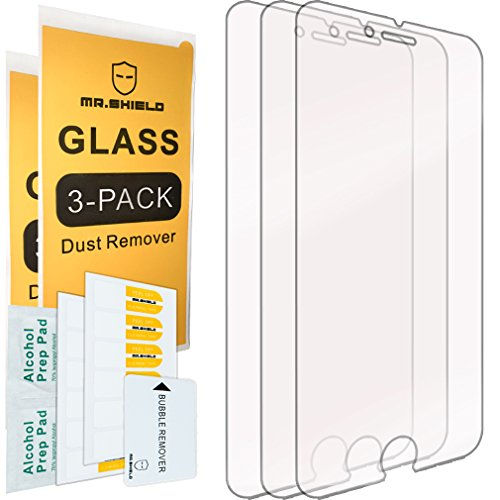 (Mr Shield [3-Pack] for iPhone 6 Plus/iPhone 6S Plus [Tempered Glass] Screen Protector with Lifetime Replacement Warranty)