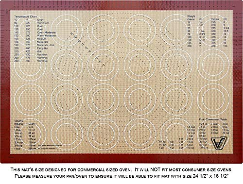 (Silicone Baking Mat - Full Sheet Size (Thick & Large 24 1/2