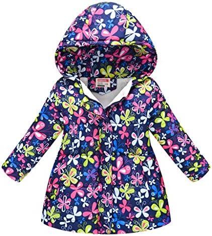 キッズ服 コート 男の子 女の子 長袖 花柄 パーカー 中長セクション フルジップ ジャケット 暖かい 防風 上着 秋冬 アウタ