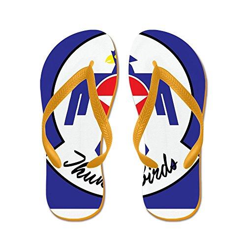 Cafepress Us Air Force Thunderbirds - Flip Flops, Grappige String Sandalen, Strand Sandalen Oranje