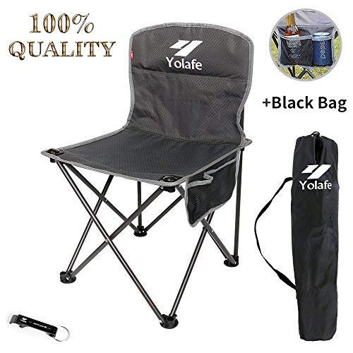 Small Camping Chair Lightweight Portable Folding Stool with Carry Bag for Mountaineering Adventure Hiking Fishing Beach Picnic Party Gardening