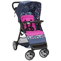 The Cosco Simple Fold Stroller makes life on the go easier and gets you where you need to be without any fuss. The stroller lifts to fold with just one hand and a quick pull upward in less than a second. It's lightweight and stands when folde...