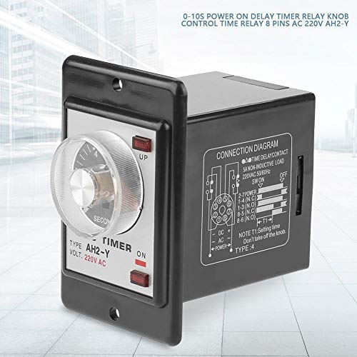 Amazon.com: AH2-Y Delay Timer Relay, 0-10s Power On ... on 8 pin relay contacts, 8 pin relay base, 8 pin control relay schematic, dpdt relay diagram, relay switch diagram, 8 pin cube relay diagram, 11 pin relay base diagram, 8 pin relay socket diagram, interposing relay diagram, 6 pin din connector diagram, alarm latching relay diagram, 4pdt relay diagram, 8 pin relay switch, 8 pin octal relay, 4 pin relay diagram, 2 pole relay diagram, electrical relay 8501 diagram, s3 single pole switch diagram, 11 pin relay socket diagram, 8 pin time delay relay,