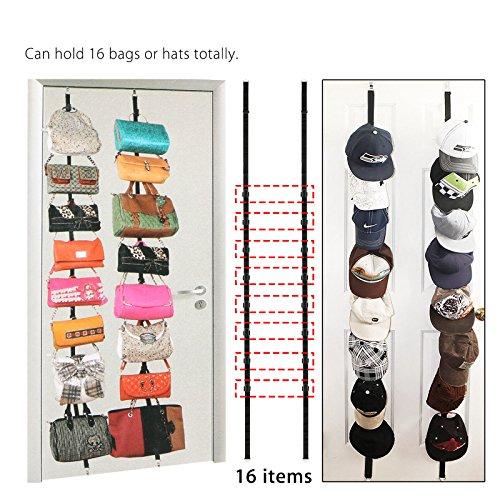 Cap Bag Rack Wall Door Hanger Holder Hook Storage Organizer 32 Baseball Hats Visors