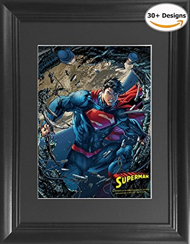 Superman Man of Steel Framed DC Comics Framed 3D Lenticular Poster - 14.5x18.5