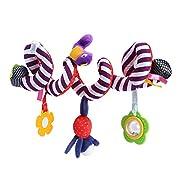 niceEshop(TM) Baby Activity Spiral Wrap Around Crib Bed Bassinet Stroller Car Seat Rail Toy with Gutta Rattles