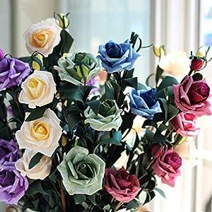 Retro Pe Foam Artificial Roses Bouquet Fake Flowers Festive & Party 68