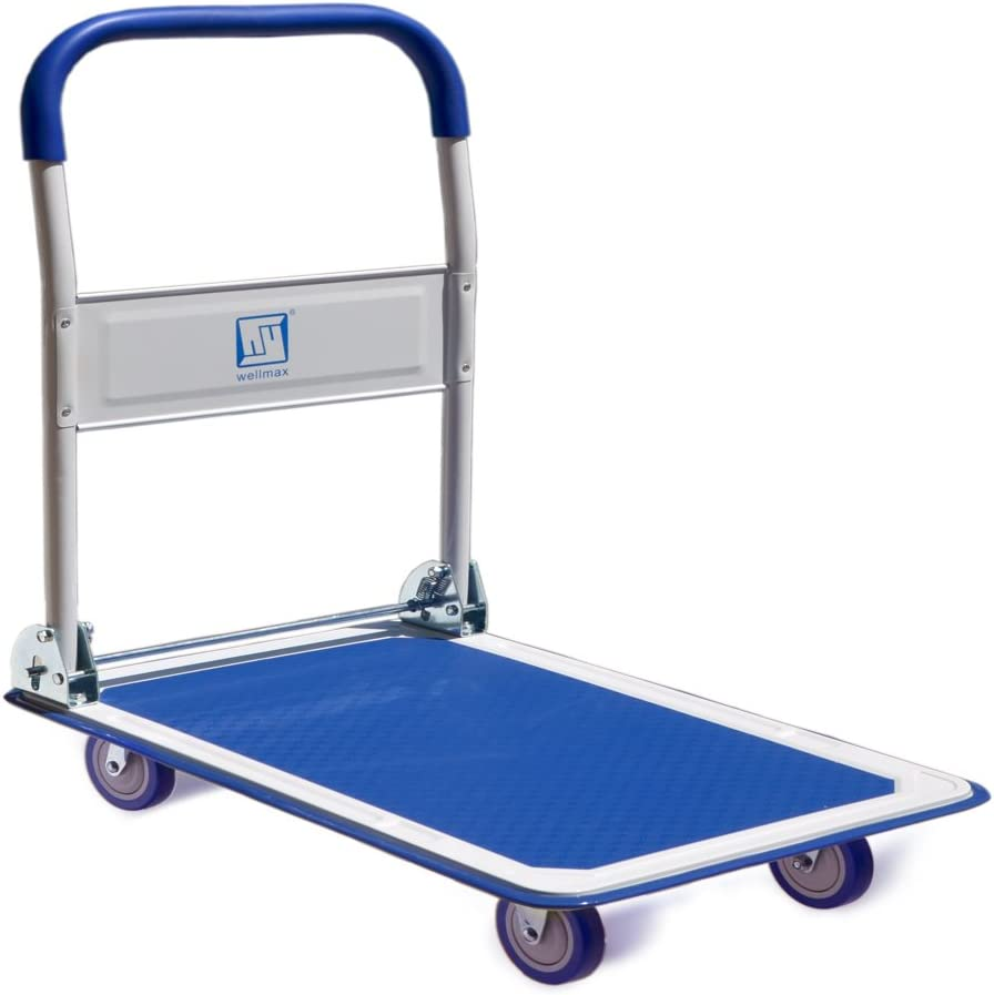 Safco Products 4078 Fold Away Large Platform Utility Hand Truck Tropic Sand