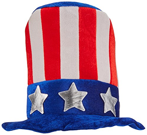 Amscan Stars & Stripes Fourth of July Uncle Sam Hat with Beard, Multi Color, 15 x 14