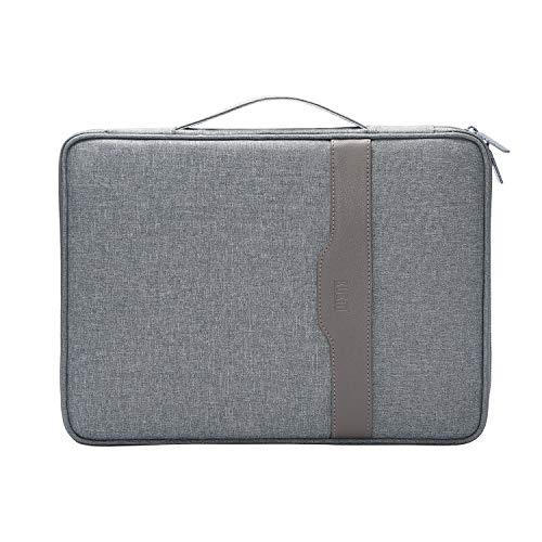 BUBM Travel Zipper Portfolio Organizer Multi-Functional A4 Document Bag Business File Holder Breifcase for Surface Pro,MacBook Air,MacBook, iPads,Phones,Notebooks, Book,Planner (Art Portfolio Briefcase)
