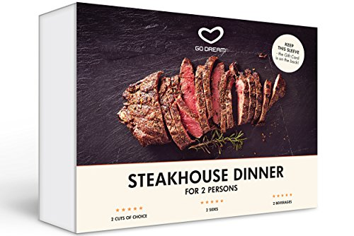 Purchase low price Steakhouse Dinner for Two New York Experience Gift Card NYC - DREAM Sent