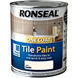 Ronseal One Coat Tile Paint Ivory Satin 750ml by Ronseal