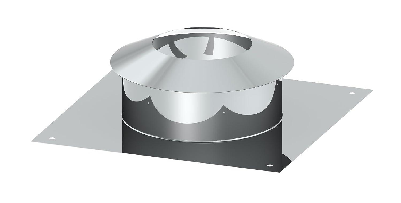 /Ø 110 mm Schornstein EW einwandige Universalkopfabdeckung mit Ringspalthinterl/üftung und Wetterkragen