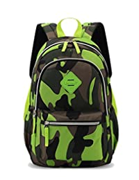 Tibes School Student Backpack Camouflage Waterproof Unisex Kids Backpack Cooler