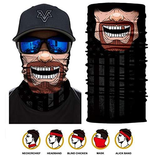 3D Halstuch Kopftuch - Multifunktionstuch Stirnband Bedrucktes, Bandana Druck Schlauchtuch Neck Gait