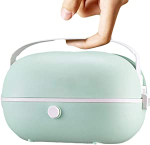 Electric Lunch Box, Mini Rice Cooker, Multi-function Cooking Steaming Lunch Box for Home Office School Cook Raw Food