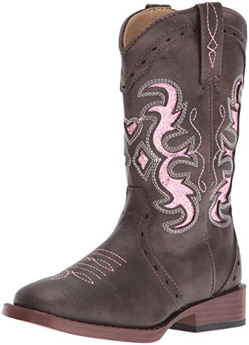 ROPER Girls' Lexi Western Boot, Brown, 12 M US Little Kid