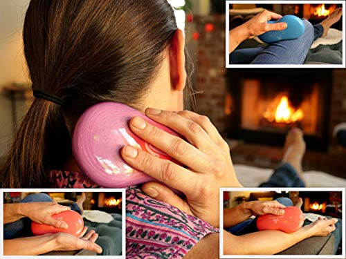 Serene (Amethyst)(Set of 2) Synergy Stones - Contoured Hot Stone Massage Tools - Deep Heat for Muscle Tension Relief - Relaxing and Therapeutic - Ultra-Smooth for on Skin with Oil or Over Clothes