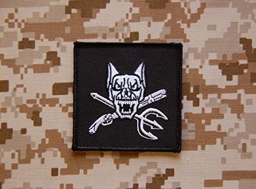 BritKitUSa NSW Dog Handler Patch Navy Seal K9 Riley US Navy USN AOR1 DEVGRU Hook Backing ()