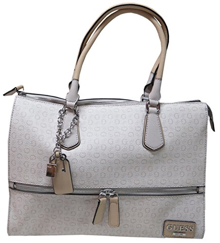 Guess Women's Purse Handbag Willowbrook Satchel Cement Signature Logo