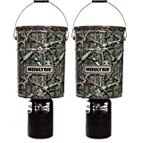Moultrie (2) 6.5 Gallon 360° Pro-Hunter Bucket Style Hanging Game Deer Feeders