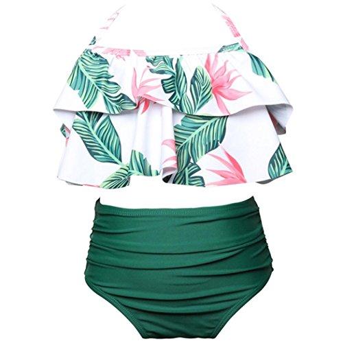 Longitude 3 Light (FEITONG 2Pcs Toddler Girls Ruffles Bikini Set Outfits Swimsuit)