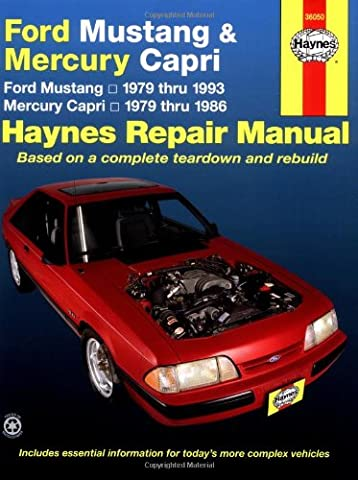 Ford Mustang and Mercury Capri, 1979-1993 (Haynes Repair Manual)