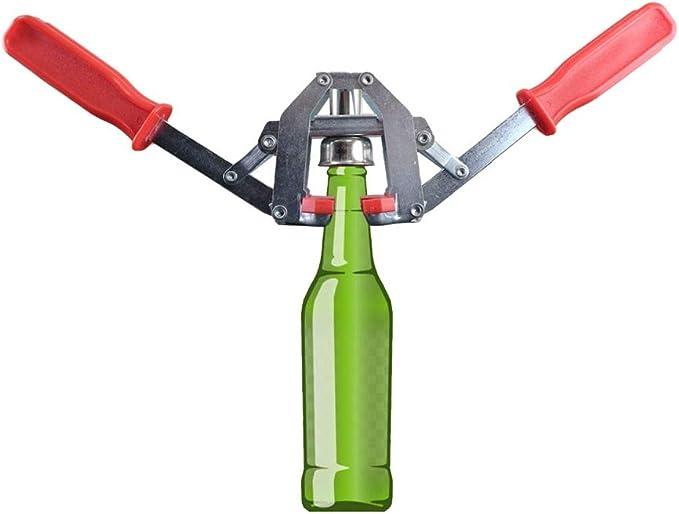 ACAMPTAR Herramienta Manual para taponar Botellas,taponadora de Corona,sellador de Botellas para Hacer Cerveza casera o Botellas de Vidrio