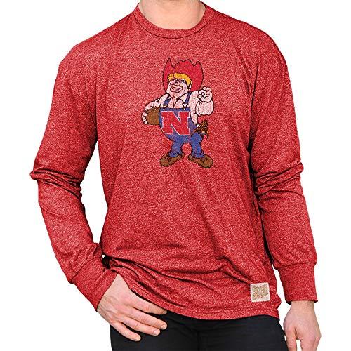 Elite Fan Shop Nebraska Cornhuskers Retro Long Sleeve Tshirt Scarlet - L ()