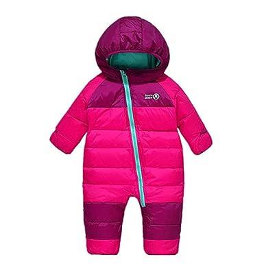 a3dfa551a2c7 Amazon.com  Digirlsor Baby Snowsuit Toddler Boy Girl Down Romper ...