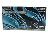 Adenna Phantom 6 mil Latex Powder Free Exam Gloves (Black, Medium) Box of 100