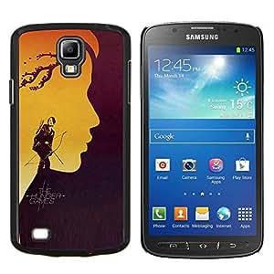 Hung3r Juegos- Metal de aluminio y de plástico duro Caja del teléfono - Negro - Samsung i9295 Galaxy S4 Active / i537 (NOT S4)