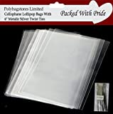 "50 x 3"" x 5"" CLEAR FOOD GRADE CELLO BAGS - Great for Cake Pops, Chocolates, Lollies..etc"