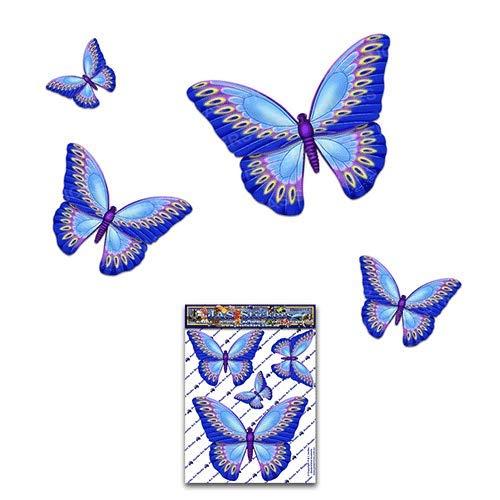 Papillon bleu D1 petit animal pack Autocollants de voiture - ST00025BL_SML - Stickers JAS