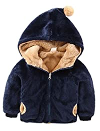 Kids Fleece Coat Unisex Baby Reversible Wear Cotton Jacket Outwear Clothing